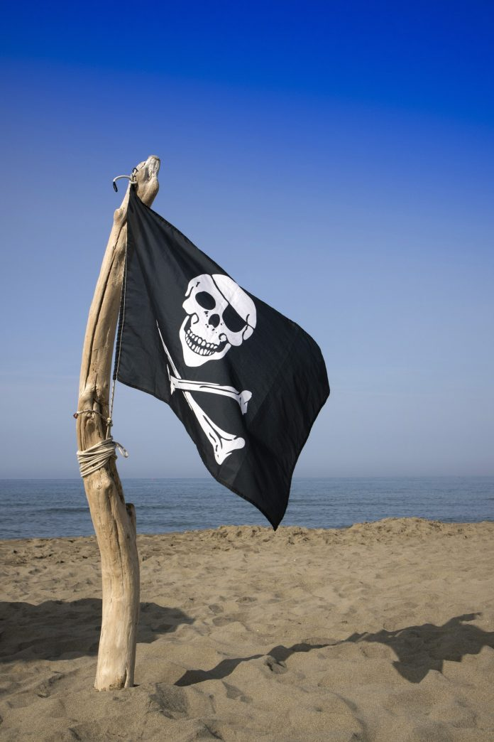 To hoist the flag of the pirates
